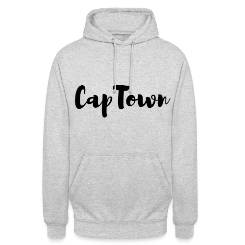 SWEAT-SHIRT À CAPUCHE GRIS - LOGO SIMPLE - CAPETOWN - Sweat-shirt à capuche unisexe