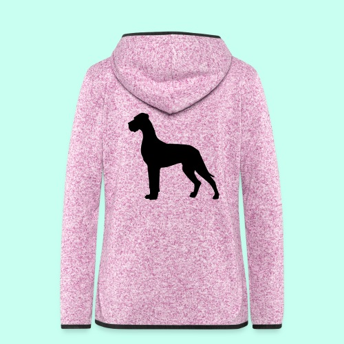 Doggenjacke Fleece - Frauen Kapuzen-Fleecejacke