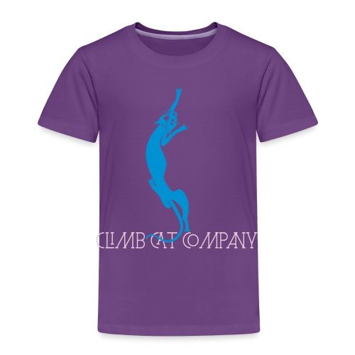 Cat loves breast By Climb Cat Company - T-shirt Premium Enfant