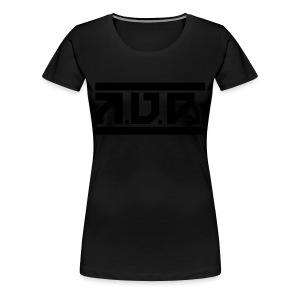 AUD Female Shirt 2016 BLK ON BLK LTD - Frauen Premium T-Shirt