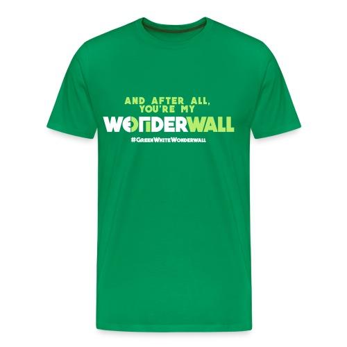 #GreenWhiteWonderwall - green - Männer Premium T-Shirt