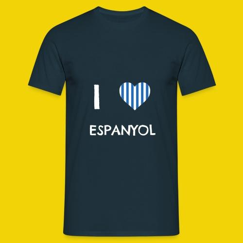 Male I Love Espanyol T-Shirt (On Navy Blue) - Men's T-Shirt