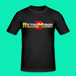Retro Mania II Logo - Men Slim Fit - Männer Slim Fit T-Shirt