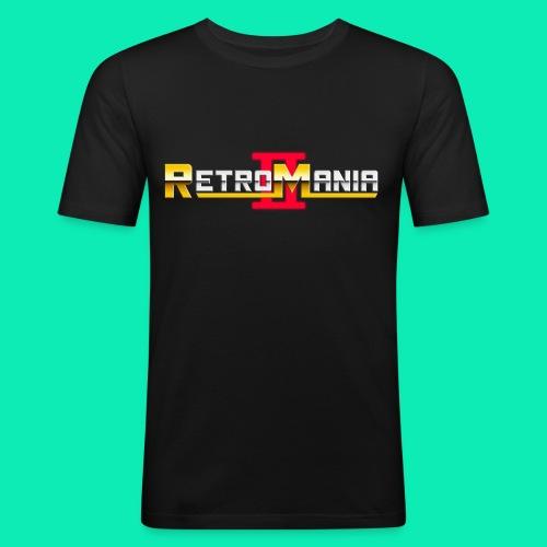 Retro Mania II Logo - Men Slim Fit - Männer Slim Fit T-Shirt