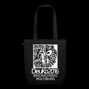 DeuKo2016 Tasche schwarz - Bio-Stoffbeutel