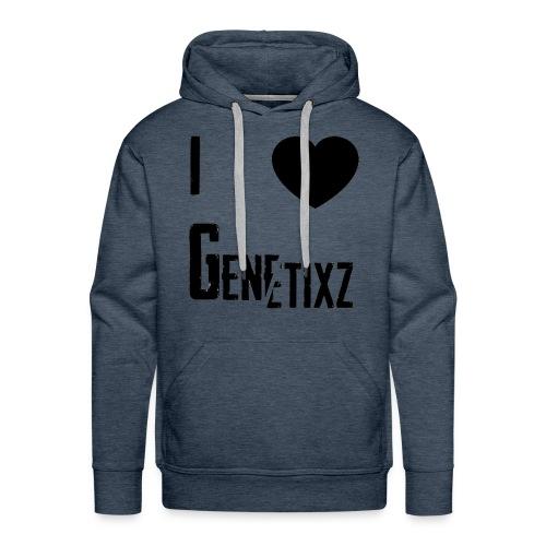 I Heart Genetixz Hoodie - Men's Premium Hoodie