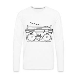 Ghettoblaster - Männer Premium Langarmshirt