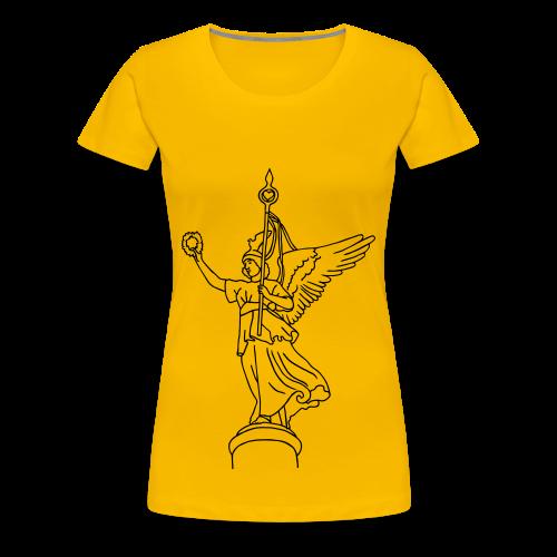 Goldelse auf der Siegessäule  - Frauen Premium T-Shirt