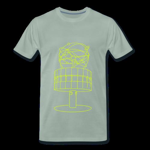 Weltzeituhr in Berlin (neon) - Männer Premium T-Shirt