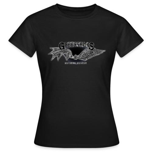 Dämon / Mensch - Schwarz (weiblich) - Frauen T-Shirt