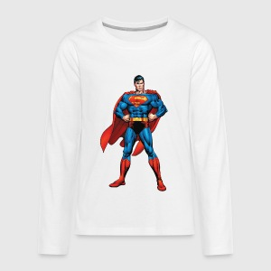 Superman Classic Pose Teenager Longsleeve - Teenager premium T-shirt med lange ærmer