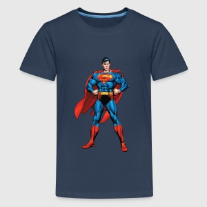 Superman Classic Pose Teenager T-Shirt - Premium T-skjorte for tenåringer