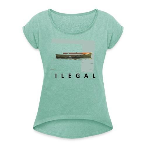 T-shirt woman ILEGAL - Camiseta con manga enrollada mujer