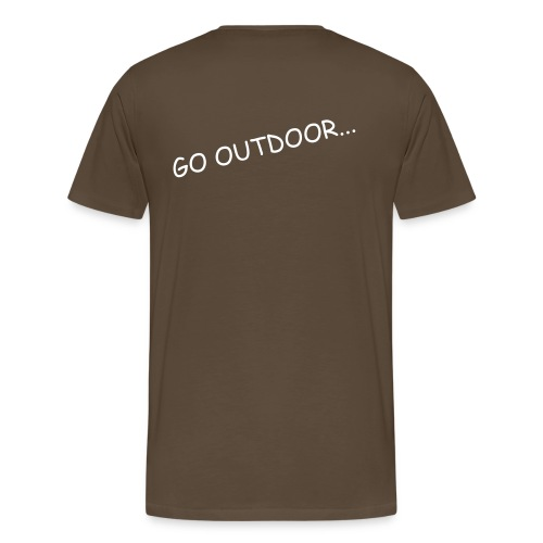 Team Bushcraft Shirt Braun Go Outdoor... (Mit Kompass Logo) - Männer Premium T-Shirt