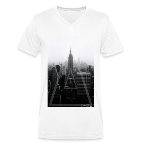 Empire state building  - Men's Organic V-Neck T-Shirt by Stanley & Stella