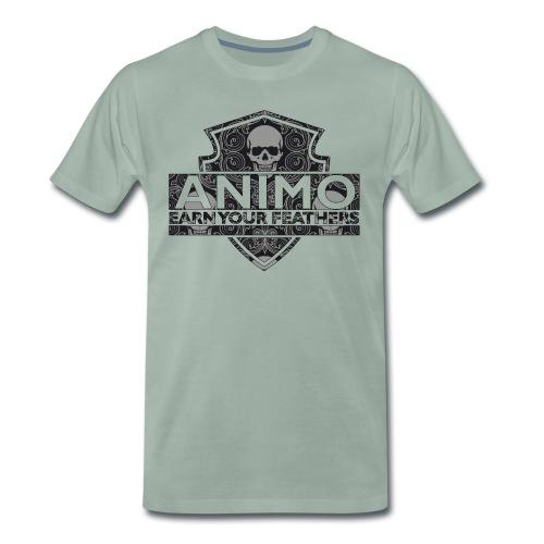 TRIBAL SKULL - Mannen Premium T-shirt