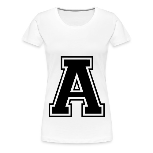 A -  T-shirts - Dame premium T-shirt