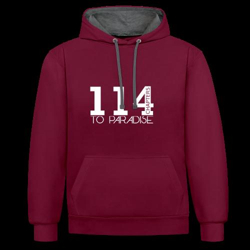 114 Chapters Hoodi - Kontrast-Hoodie
