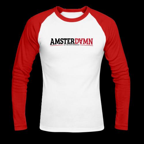 AMSTERDAM Baseball Shirt - Mannen baseballshirt lange mouw