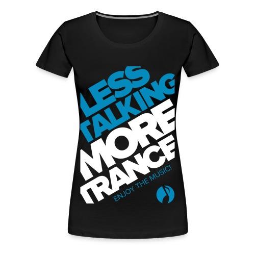 TFB | Less Talking - BLUE - Women's Premium T-Shirt