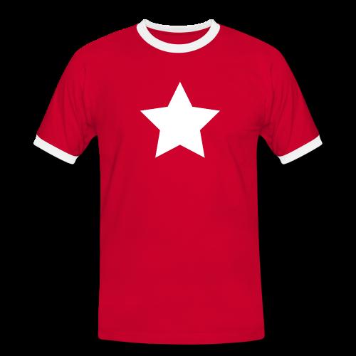 Männer Kontrast-T-Shirt - Stern - Männer Kontrast-T-Shirt