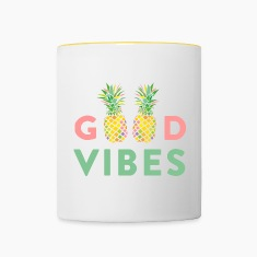 AD GOOD VIBES PINEAPPLE Mugs & Drinkware