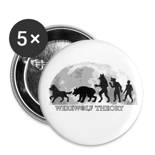 Werewolf Theory: The Change - 32 mm (Medium) Buttons (Set of 5) - Buttons medium 32 mm