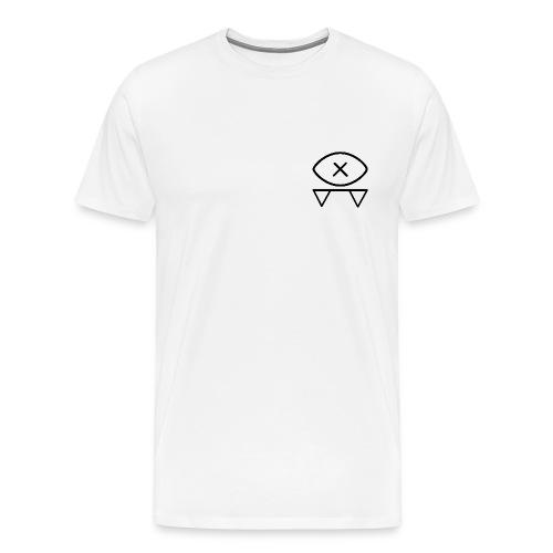 Blind Bat Logos White T-Shirt - Men's Premium T-Shirt