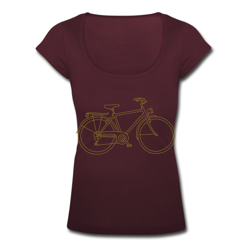 Fahrrad - Frauen T-Shirt mit U-Ausschnitt