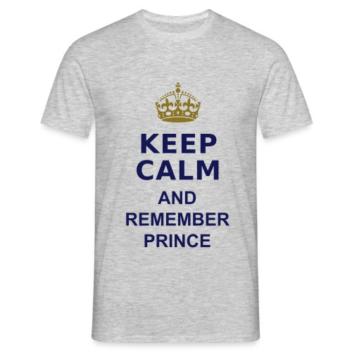 Remember Prince - grey Shirt Unisex - Blue letters - Männer T-Shirt