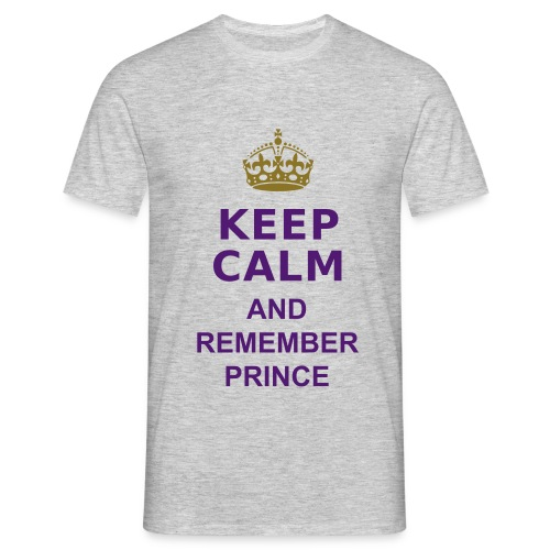 Remember Prince - grey Shirt Unisex - Purple letters - Männer T-Shirt