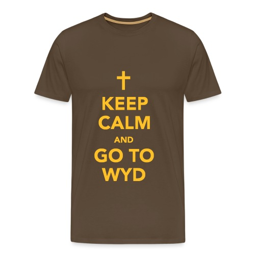 KEEP CALM AND GO TO WYD - Men's Premium T-Shirt
