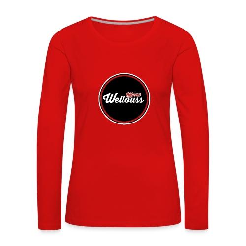 Wellouss T-shirt | Rood (Vrouw) - Vrouwen Premium shirt met lange mouwen