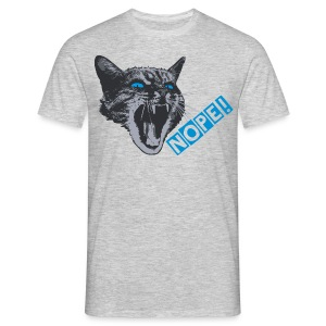 The angry grumpy cat say NOPE! - Men's T-Shirt