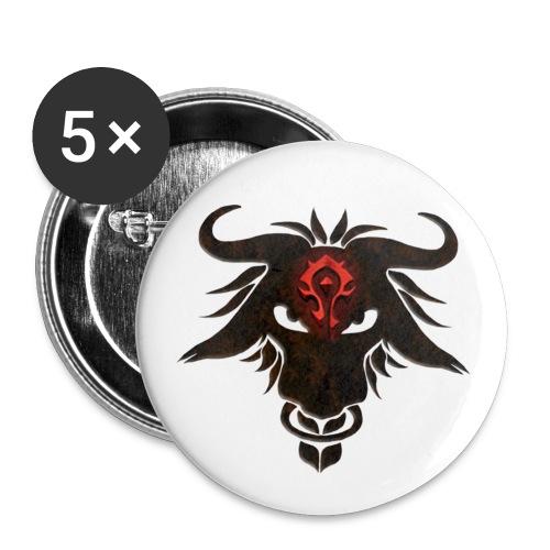 Pin ~ Motiv: Tauren Kopf - Buttons mittel 32 mm (5er Pack)