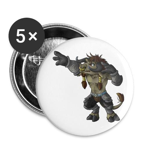 Pin ~ Motiv: Taure - Buttons mittel 32 mm (5er Pack)
