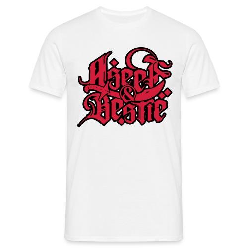 Logoshirt _redblack - Männer T-Shirt