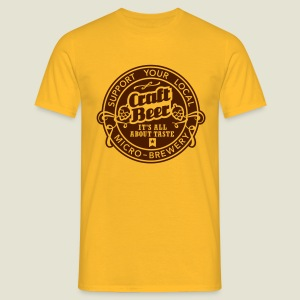 Craft Beer, inverted - Männer T-Shirt