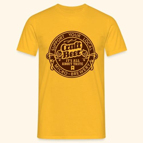 Craft Beer, inverted - Männer T-Shirt
