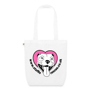 Staffie Rescue tote bag (white) - EarthPositive Tote Bag