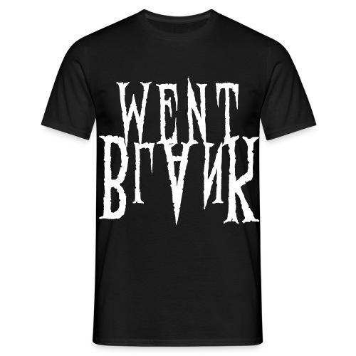 Went Blank // Standard-Shirt - Männer T-Shirt