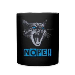 Kitty cat absolutely nope black offce mug - Full Colour Mug