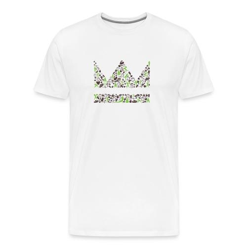Kronen-Design braun-gruen Männer - Männer Premium T-Shirt