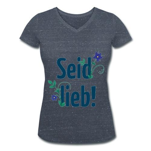 Frauen-T-Shirt mit V-Ausschnitt (S–XXL)