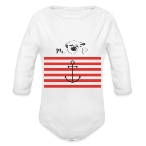 Miss PIDDLES Stripes Baby - Baby Bio-Langarm-Body