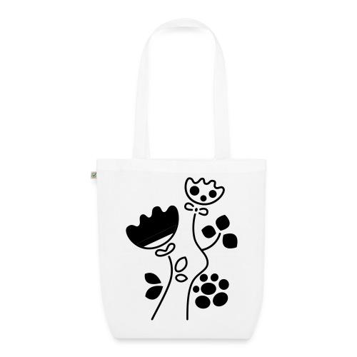 borsa con fiori - Ekologiczna torba materiałowa