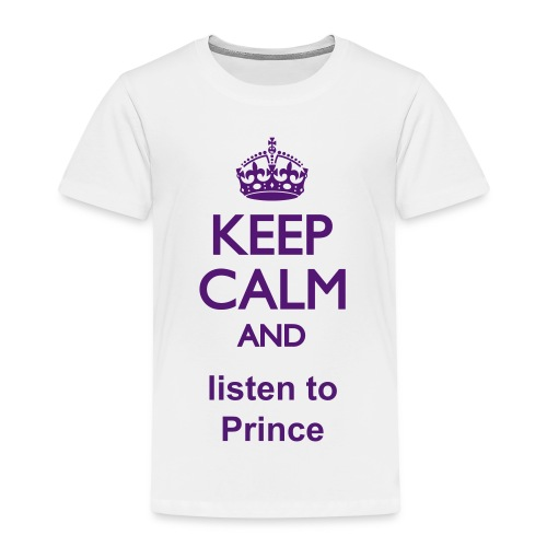 Listen to Prince - T-Shirt Kids - Purple letters - Kinder Premium T-Shirt
