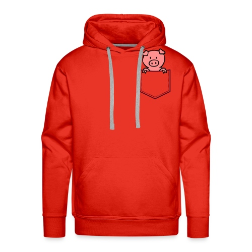 [Red] Pocket-Pig - Men's Premium Hoodie