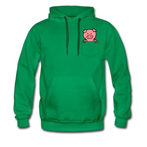 [Green] Pocket-Pig - Men's Premium Hoodie