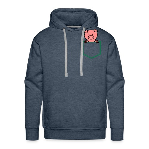 [Green] Pocket-Pig - Men's Premium Hoodie